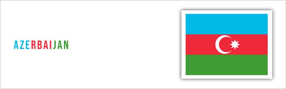 Azerbaijan flag website banner