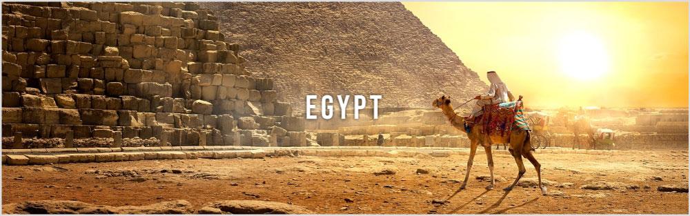 Egypt tour website banner